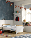 Mothercare padstow toddler bed/Linwood wallpaper