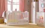 Mothercare Darlington White Cotbed/Brintons Carpet