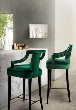 Velvet bar stool, Brabbu.com