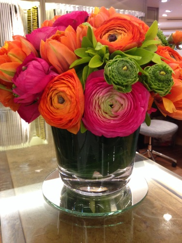 Flowers at Colefax and Fowler showroom