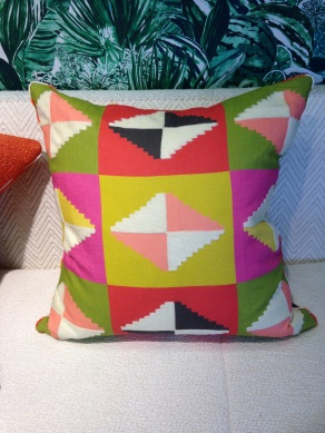 Cushion from 'Maya' fabric collection, Pierre Frey