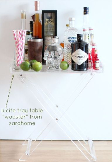 Lucite butlers tray