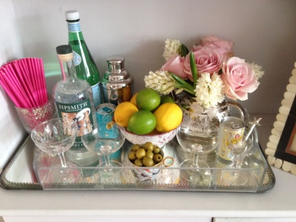 Drinks tray styling and photograph: Charis White