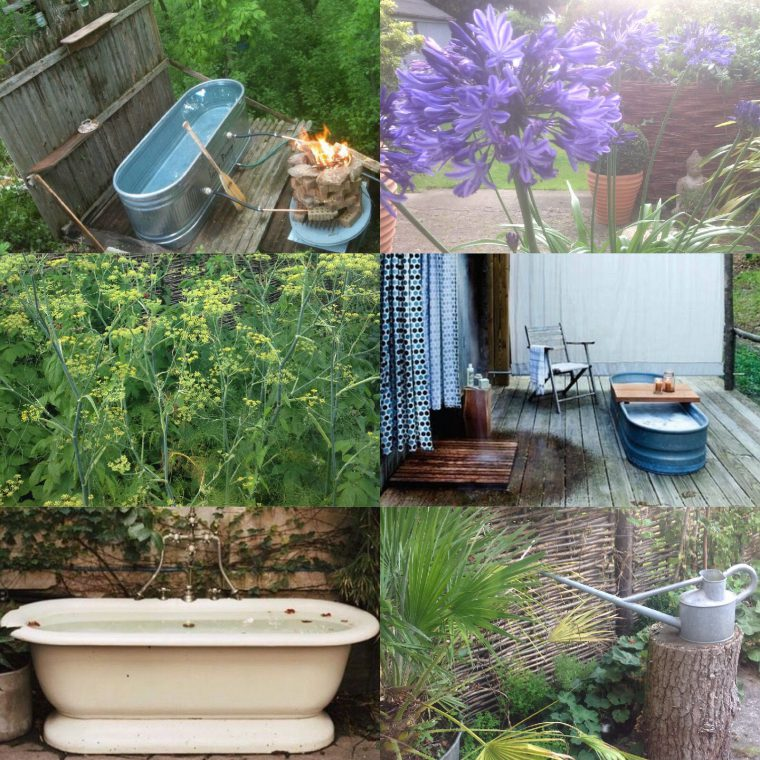 Outdoor baths montage