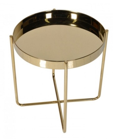 Gold plated end table, £313, Sweetpea & Willow