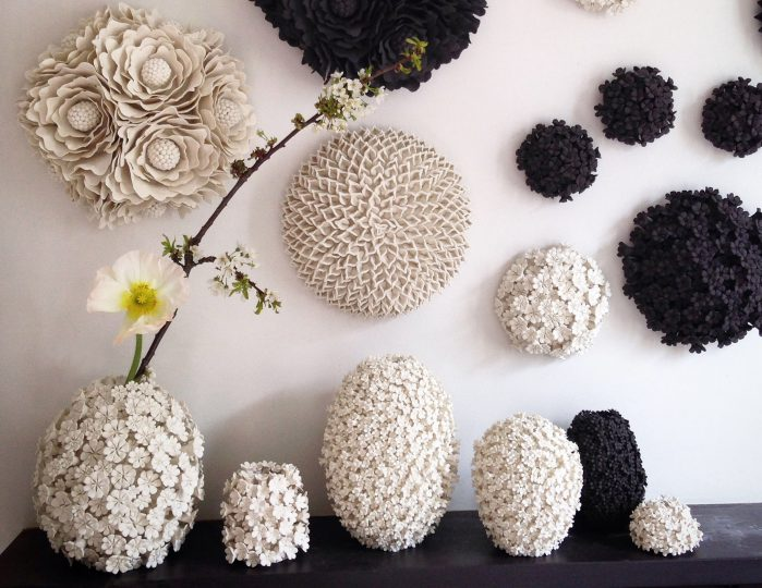 Wallflower London - Black and White vases and wall art