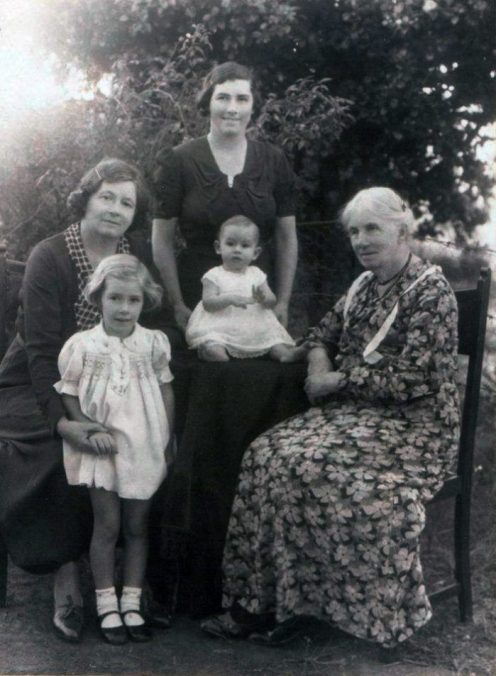 Four generations of Vanessa Hogge's family