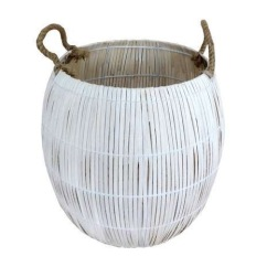 Bamboo storage basket, Dunelm Mill - Global Fusion interiors: Charis White blog