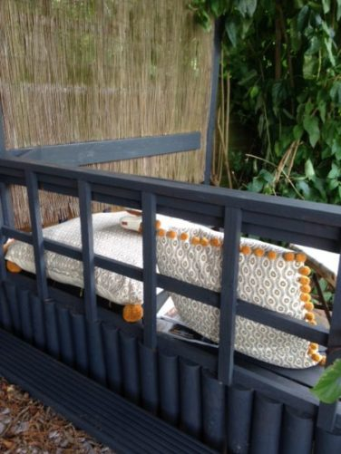 Homesense cushions for Outdoor Entertaining blog by Charis White