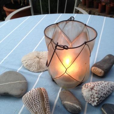Hurricane Lantern by Charis White for Outdoor Living blog