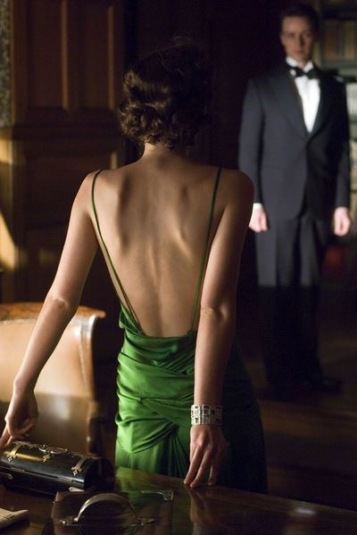Keira Knightley in green dress, Atonement. Pinterest.