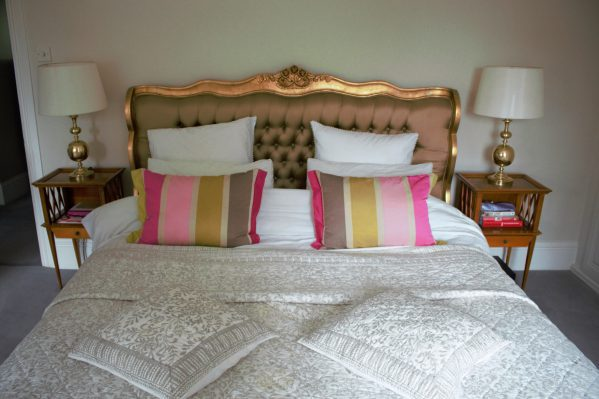French bed in Karen Kennedy of Indigo Rye's home for Charis White blog