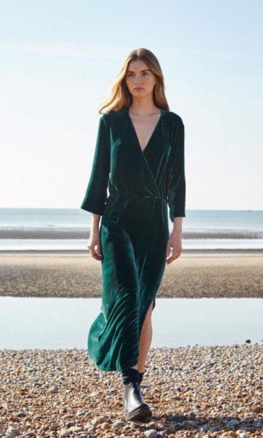 Plumo Sea Velvet Dress in 'The Green Room', AW16 trends blog: Charis White