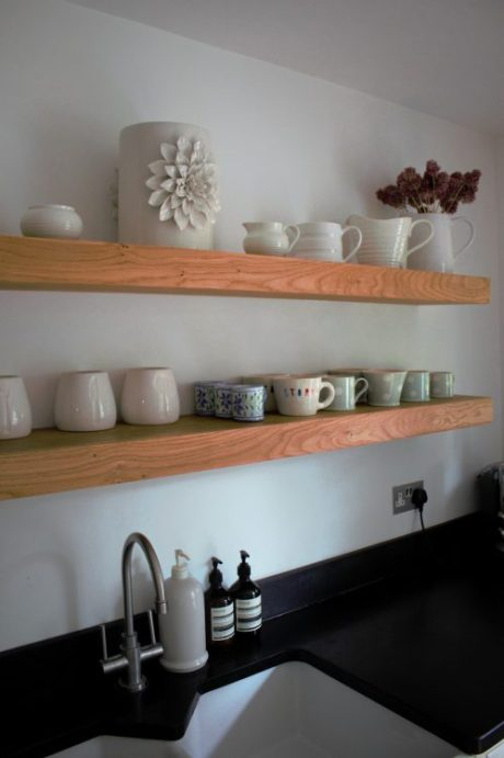 kitchen shelves angle good