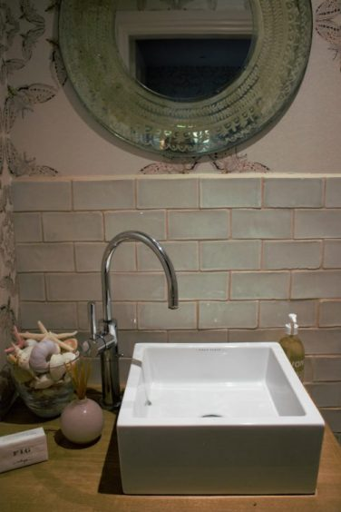 sink in Karen Kennedy of Indigo Rye's home for Charis White blog