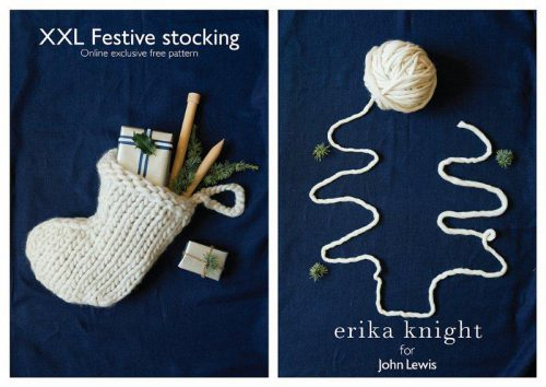 XXL Festive stocking pattern by Erika Knight/John Lewis, photography: Yuki Sugiura, styling: Charis White