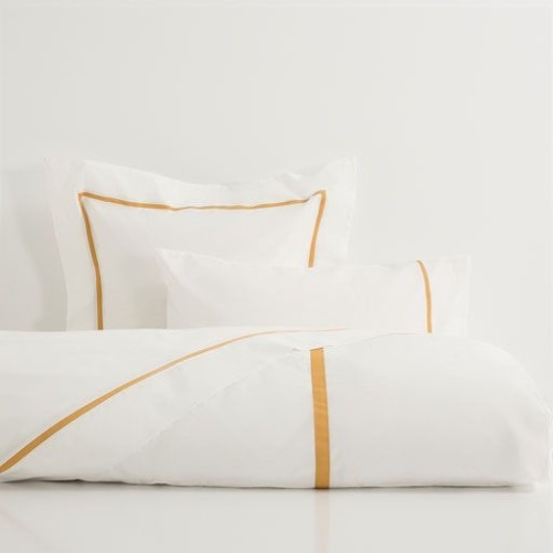 Camel Ribbon bedlinen from £25.99, Zara Home