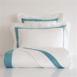 Blue ribbon satin bedlinen from £29.99, Zara Home