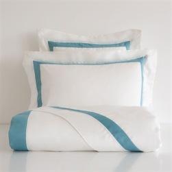 Blue ribbon satin bedlinen from £29.99, Zara Home