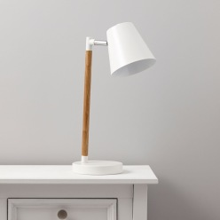 Adelsbury White Table Lamp, £28, B&Q lamp;