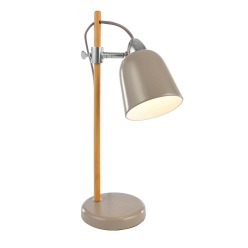 Task Taupe Oak Effect Table Lamp, £32, B&Q lamp;