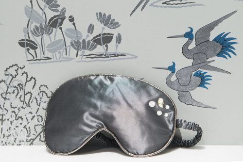Silver silk eye mask, Counting Lambs: Charis White Blog