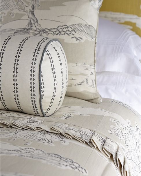 Cushions and bedspread by Vanessa Arbuthnott