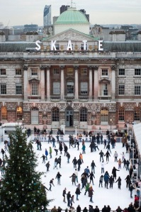 Somerset House Ice skating, courtesy of Time Out/Pinterest