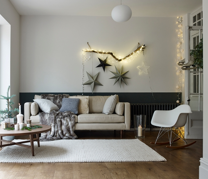Scandinavian style sitting room for DFs, styled by Charis White, Photography, Dan Annett
