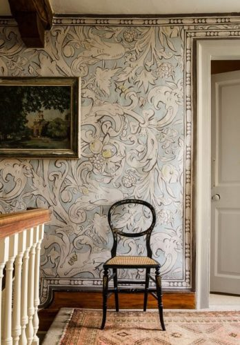 Bacchus wallpaper, by Melissa White for Lewis & Wood/Charis White blog