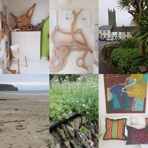 Helen and John Worton's Cornish home collage of photos. Photos and blog: Charis White