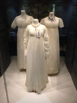 White Georgian dresses, The Fashion Museum Bath. Photo/blog: Charis White