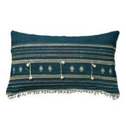 Ikaria blue cushion cover, OKA; Indigo blue blog: Charis White