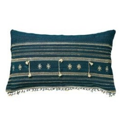Ikaria blue cushion cover, OKA; Indigo blue blog: Charis White