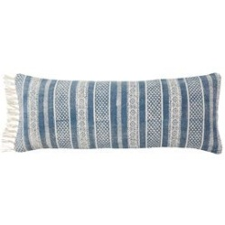Chalai bolster cushion, OKA: Indigo blue blog: Charis White