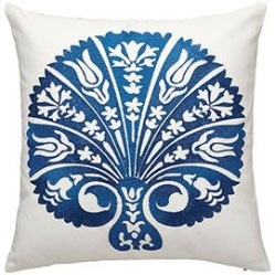 Hellas Cushion cover: Indigo blue blog: Charis White