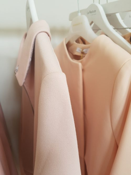 La Redoute blush coats, Summer 2017: Charis White Indigo and Blush blog