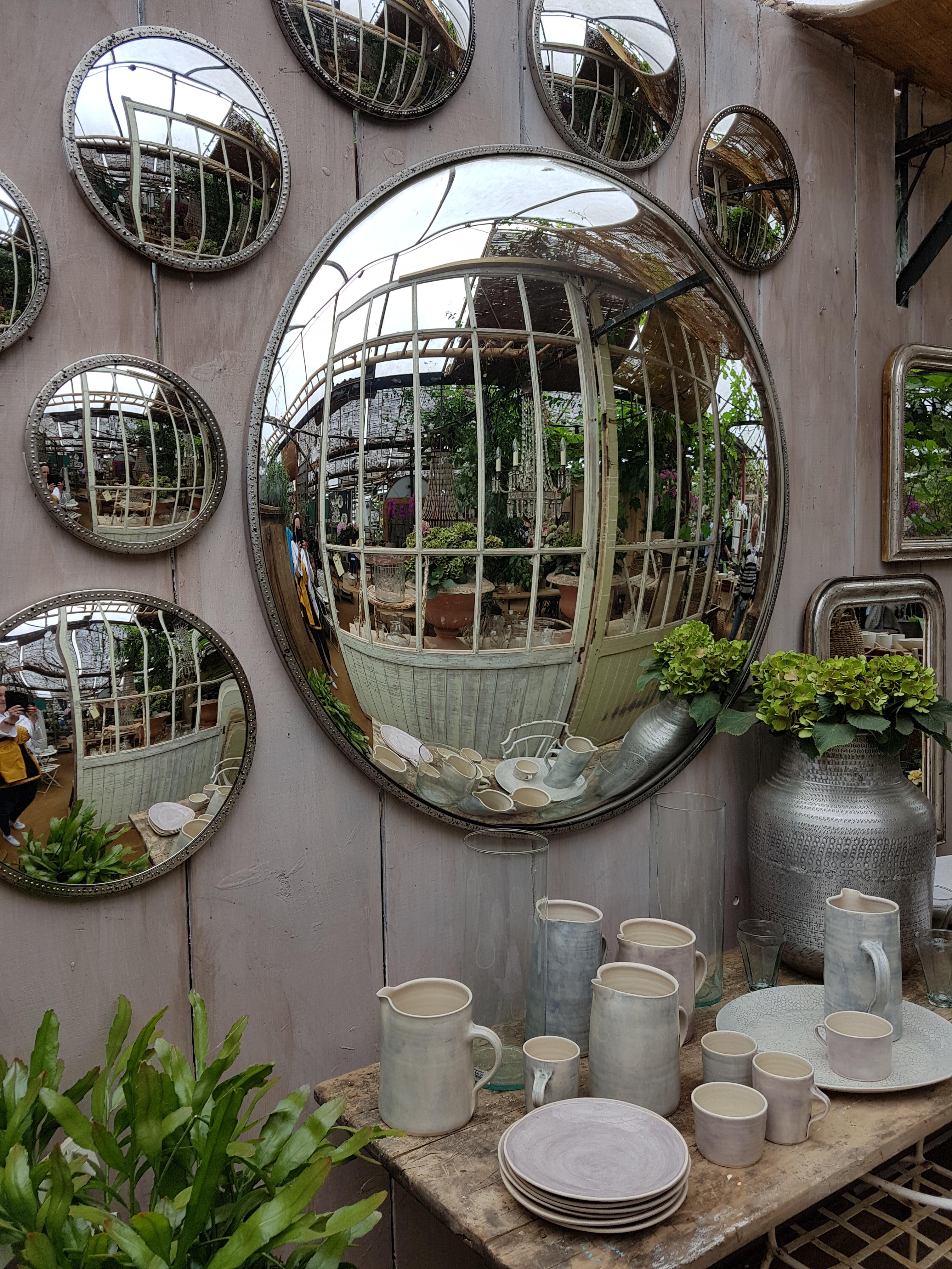 Round Beaded Convex Mirrors, Petersham Nurseries. Photo: Charis White Image