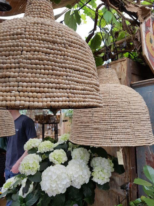 Bead pendent lights, Petersham Nursery. Photo: Charis White interiors blog