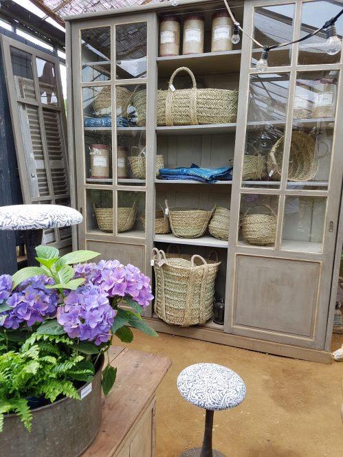Storage unit and baskets, Petersham Nursery. Photo: Charis White interiors blog