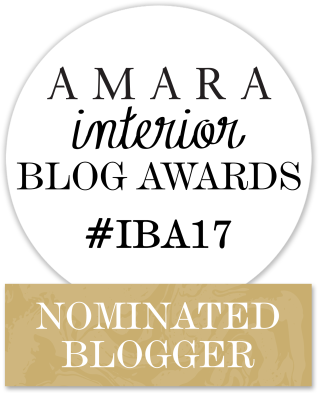 Amara interior blog awards #IBA17 nominated blogger
