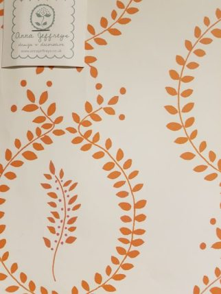 Laurel wallpaper by Anna Jeffreys for Tissus D'Helene. Marmalade and Slate interiors blog by Charis White