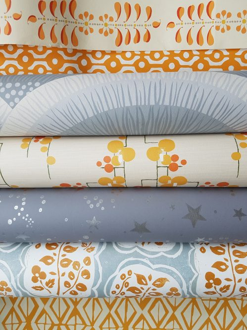 Wallpapers from Tissus D'Helene. Photo and styling Charis white (blog)