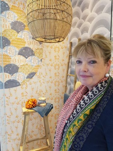 Helen Cormack with her Japanese style window at DCCH Focus 17 styled by Charis White stylist