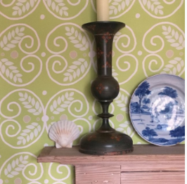 Anna J green wallpaper mantlepiece