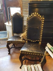 Flemish chairs at Gear Antiques: Styling With Antiques for Charis White blog