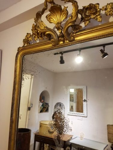 19th Century Louis Philippe mirror at Gear Antiques/Styling with Antiques on Charis White blog