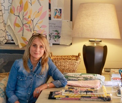 Mimi Pickard at her desk: Charis White interiors blog