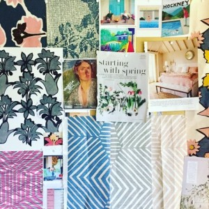 Mimi Pickard's studio moodboard: Charis White interiors blog