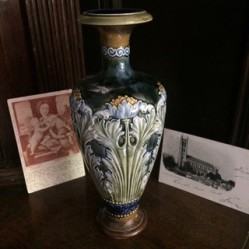 Vase used by Tanya Bowd for Howards End set. Charis White interiors blog